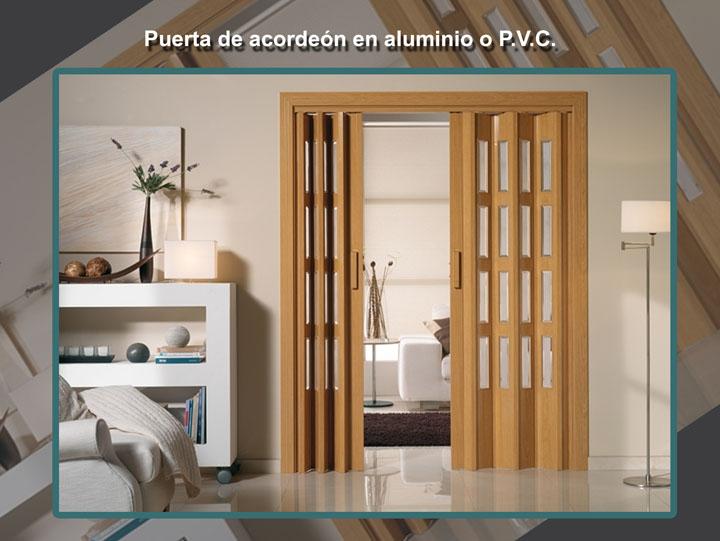 Puertas fabricadas con carpinter a de aluminio for Puerta de acordeon castorama