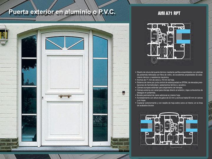Puertas fabricadas con carpinter a de aluminio - Puerta de aluminio exterior ...